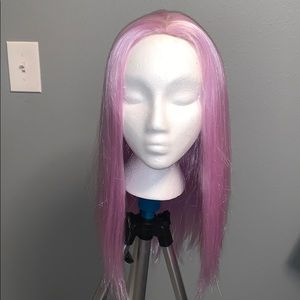 Lilac synthetic wig